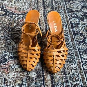 Prada T-Strap Sandals